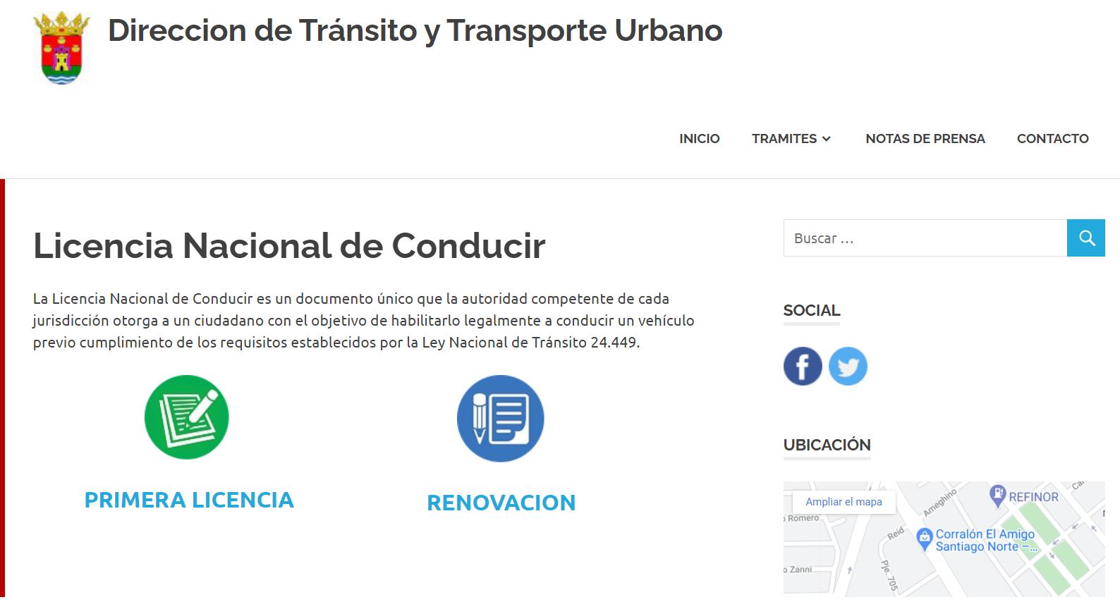 Infracciones Santiago del Estero