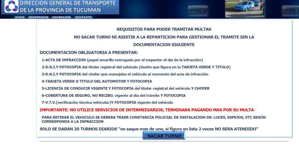 Infracciones Tucuman
