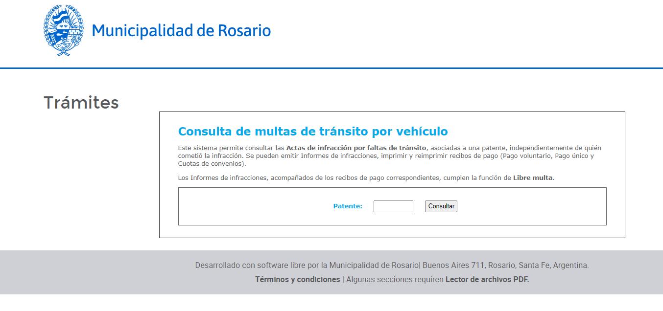 Consulta infracciones Rosario