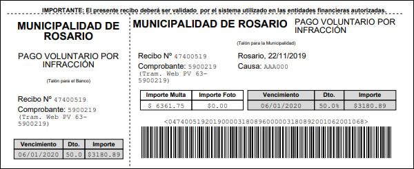 Multas Rosario
